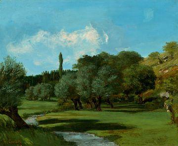 La Bretonnerie im Departement Indre, Gustave Courbet, 1856 von Atelier Liesjes