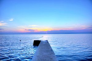 Coucher de soleil sur la plage d'Umag sur Roith Fotografie