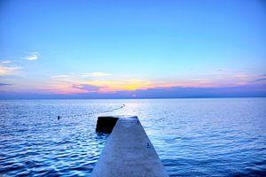 Sonnenuntergang am Strand von Umag