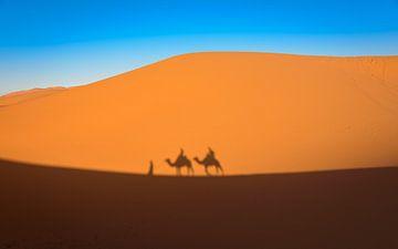Trektocht door de woestijn, Marokko van Rietje Bulthuis
