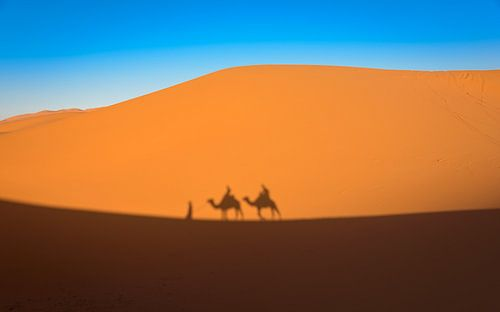 Trektocht door de woestijn, Marokko