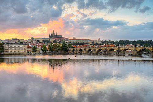 Prager Burg und Karlsbrücke