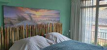 Klantfoto: de kust in beeld van eric van der eijk, op canvas