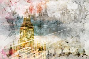 City Art Big Ben & Westminster Bridge II