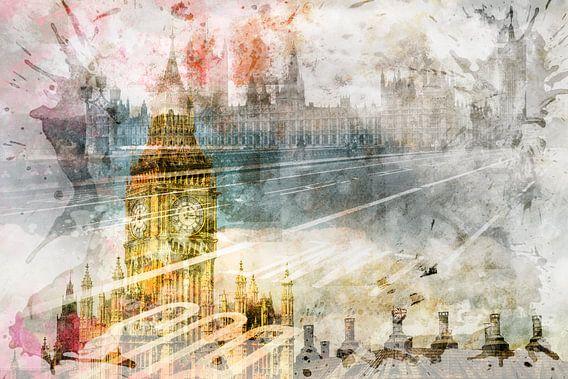 City Art Big Ben & Westminster Bridge II van Melanie Viola