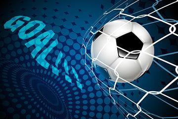 Fußball landet im Netz: ZIEL!!! von Henny Hagenaars