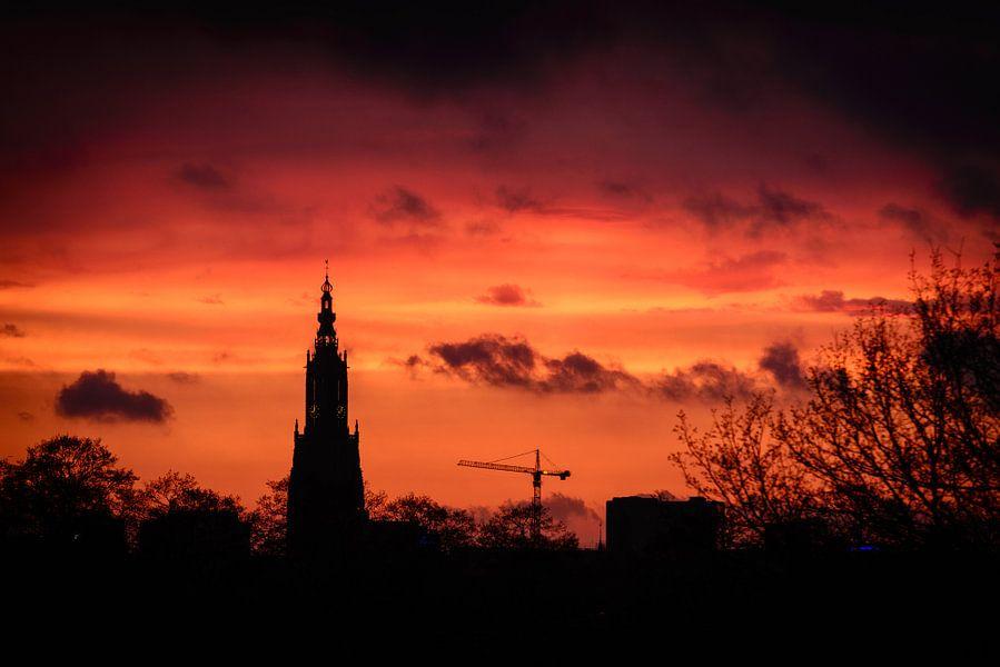 Amersfoortse zonsondergang van Sjoerd Mouissie
