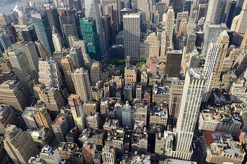 Uitzicht vanaf Empire State Building over Manhattan New York van
