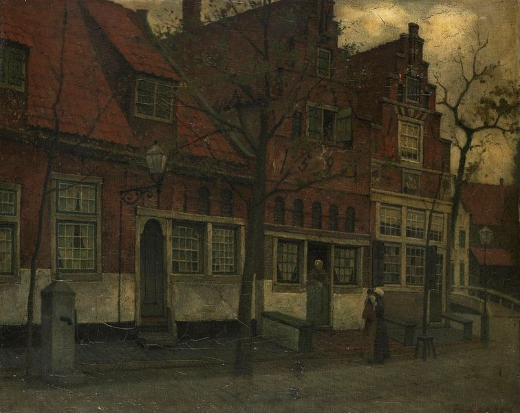 Häuser an der Breedstraat, Enkhuizen, Eduard Karsen von Meesterlijcke Meesters