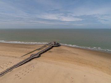 Pier van Blankenberge vanuit de lucht van Easycopters