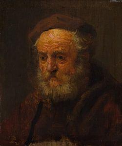 Studie Hoofd van een oude man, de stijl van Rembrandt