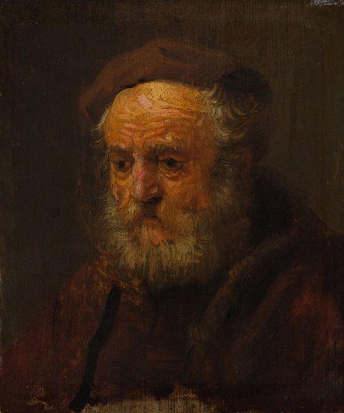 Studie Hoofd van een oude man, de stijl van Rembrandt van Meesterlijcke Meesters