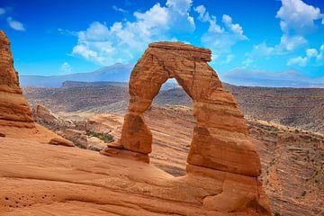 Zarter Bogen im Arches Nationalpark, USA von Gert Hilbink