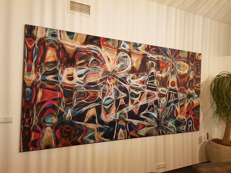 Klantfoto: Flower Fly van GOOR abstracten, op print op doek