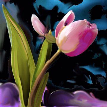 Tulipaan rose een van Raina Versluis