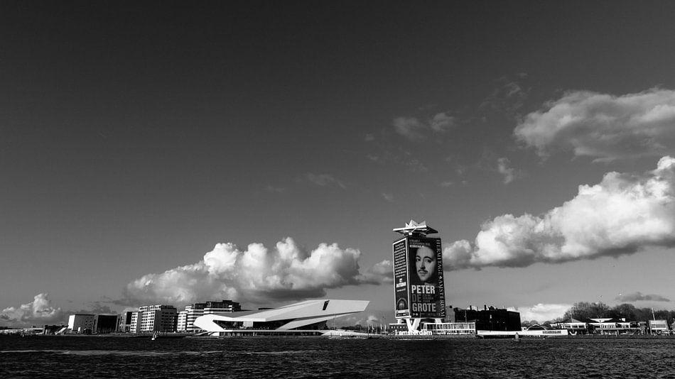 Het IJ bij Amsterdam Centraal