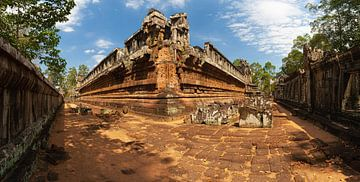 Panorama-Vor-Raupentempel, Angkor, Kambodscha