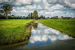 Zuid-Hollands polderlandschap bij Langerak van