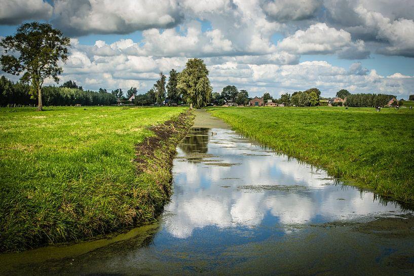 Zuid-Hollands polderlandschap bij Langerak van Kees van der Rest