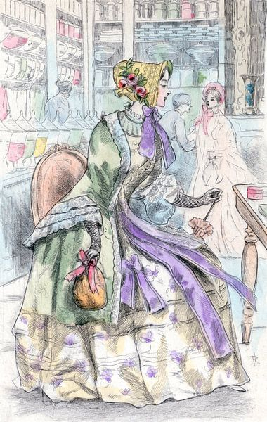 Mode 1850, Mode in het negentiende-eeuwse Parijs, Henri Boutet, (1851 1919) van Liszt Collection