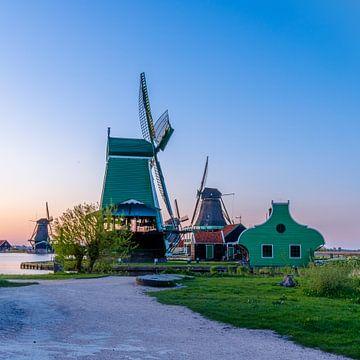 Nederlandse windmolens van de Zaanse Schans van Jeffrey Steenbergen