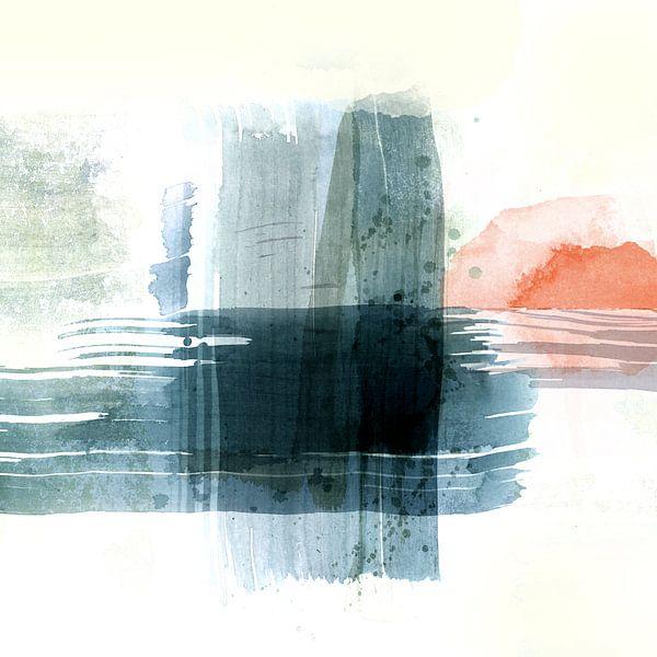 Zonsondergang in de haven van Andreas Wemmje