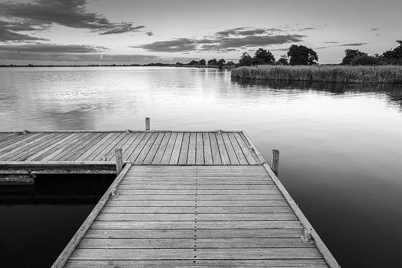 Een avond aan het Leekstermeer van Henk Meijer Photography