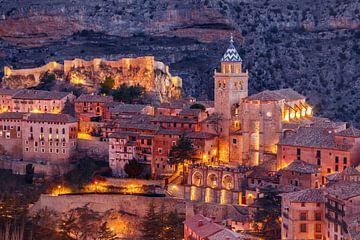 Albarracín bij zonsondergang van