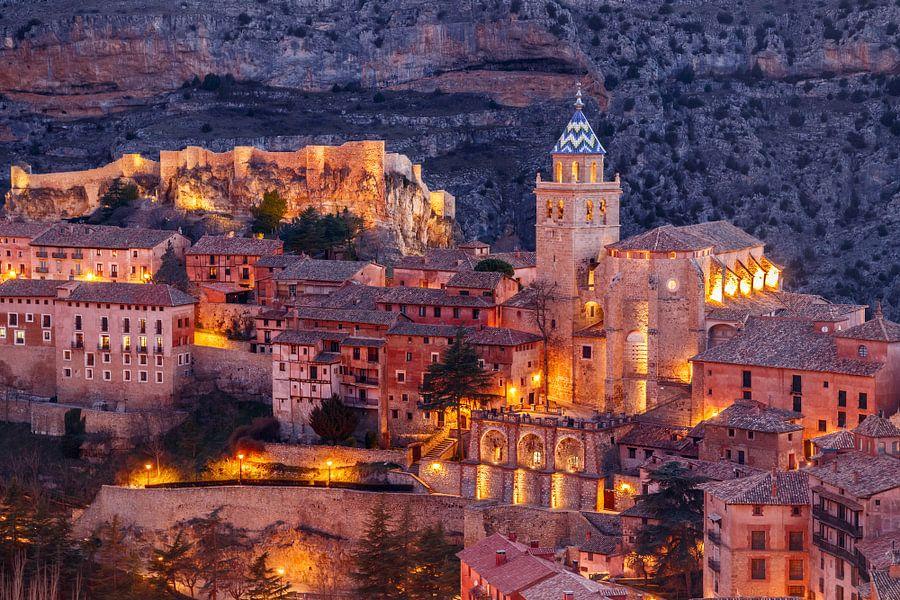 Albarracín bij zonsondergang van Juriaan Wossink