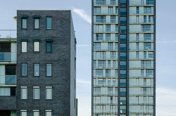 Woontoren Sirene en appartementen Arcos in Almere Haven van Sven Wildschut