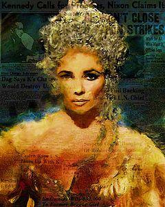 Cleopatra Elizabeth Taylor | Elizabeth Taylor Pop Art van
