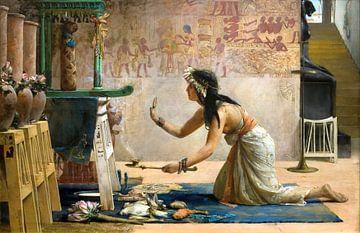 Das Begräbnis einer ägyptischen Katze - John Weguelin, 1886 von Atelier Liesjes