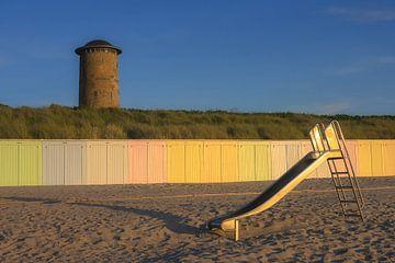 La plage de Domburg dans la lumière d'été