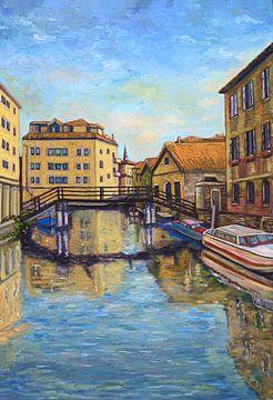 Kanäle von Venedig. Vertikale Ansicht von David Morales Izquierdo