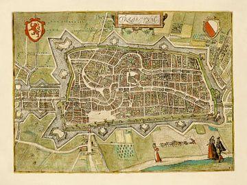 Plattegrond Utrecht - 1582