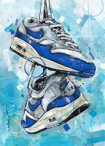 Nike air max 1 schilderij van Jos Hoppenbrouwers