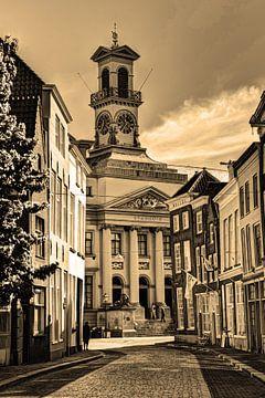 Rathaus von Dordrecht Niederlande Sepia von Hendrik-Jan Kornelis