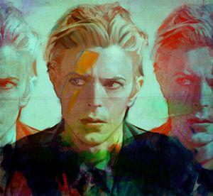 Motiv David Porträt Bowie the Duke - 3 Faces