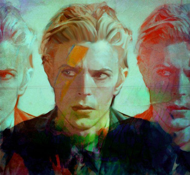 David Bowie the Duke - 3 Faces  van Felix von Altersheim