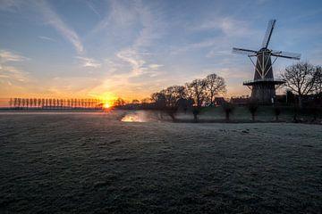 Zonsopgang molen Buren von Moetwil en van Dijk - Fotografie