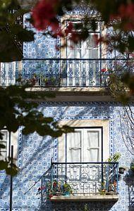 Blauwe tegels van Lissabon
