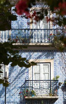 Blauwe tegels van Lissabon van Ronne Vinkx