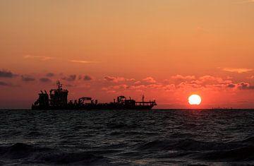 Schip op de noordzee van MSP Canvas