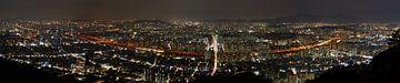 Panorama van Oost Seoul van Atelier Liesjes
