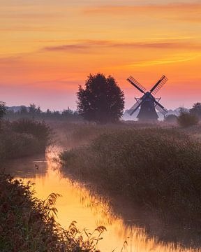 Noordermolen, Noorddijk, Groningen, Pays-Bas sur Henk Meijer Photography