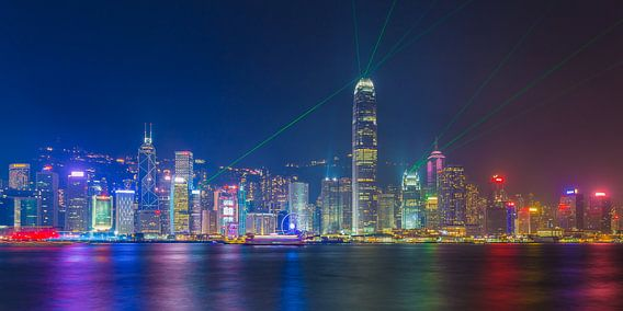 Hong Kong by Night - Skyline met lasershow - 1