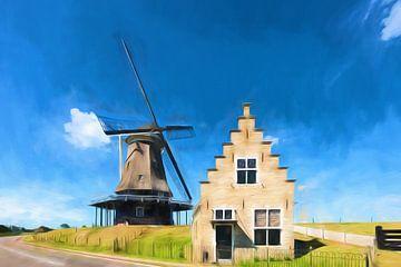 Mühle und digitale Kunst von eric van der eijk