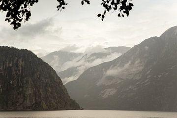 Paysage scandinave, brouillard dans les montagnes norvégiennes | tirage photo d'art sur Karijn | Fine art Natuur en Reis Fotografie