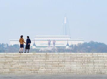 Pyongyang en haar bewoners, Noord Korea van Teun Janssen