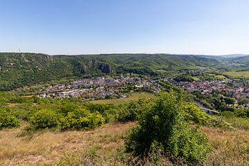Panoramisch uitzicht van Bad Münster am Stein-Ebernburg in Rijnland-Palts, Duitsland van Reiner Conrad